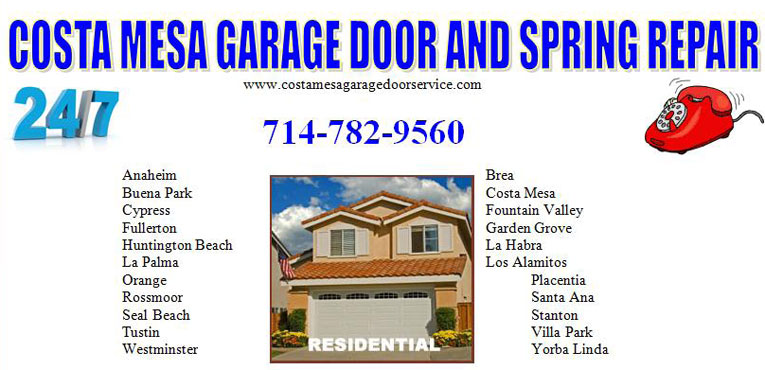 Costa Mesa Garage Door Repair | New Garage Door Springs Costa Mesa | New Garage  Doors Costa Mesa | New Garage Door Opener Costa Mesa | Torsion Springs  Costa ...